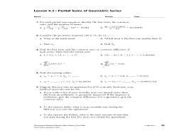 Arithmetic Sequence Worksheet Answers Awesome Arithmetic Sequence Worksheets With Answers Koran