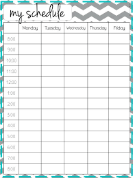 Class Timetable Template School Schedule Templates Blank Weekly ...