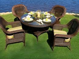 wicker patio dining sets tortuga outdoor lexington wicker 5 piece dining set wicker home design modern