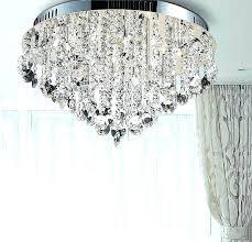 nerisa 4 light chrome semi flush mount crystal chandelier semi flush mount crystal chandelier amazing semi