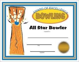 Downloadable Awards Certificates Bowling Award Certificates Printable And Downloadable Bowling