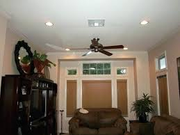 recessed lighting with ceiling fan parking lot lights