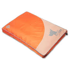 orange dog bed.  Orange Dog Helios Small Orange AeroInflatable Outdoor Camping Travel Waterproof  Pet Mat Bed Inside R