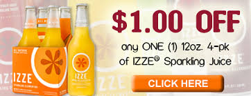 Sparkling Image Coupons Izze Coupon 1 Off Izze Sparkling Juice 4 Pack