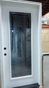 full glass exterior door soothing