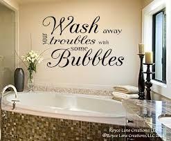 bathroom wall decor wash away your