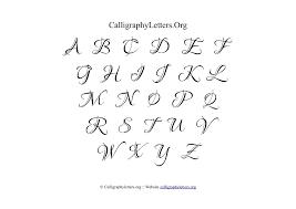 Printable Calligraphy Alphabet Chart Alphabet Image And