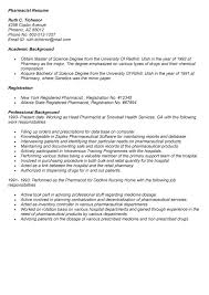 Pharmacist Resume Long Term Care #24