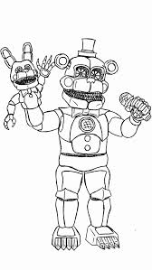 Fnaf Funtime Freddy Coloring Pages