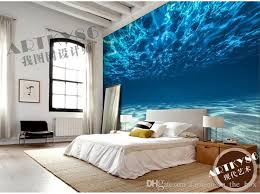 Wallpaper Design Home Decoration Charming Deep Sea Photo Wallpaper Custom Ocean Scenery Wallpaper 21