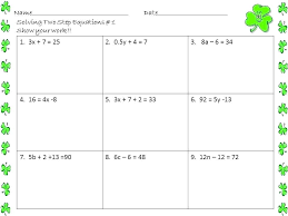 solving two step equations worksheet 7th grade 2 step algebraic equations worksheets the best image free solving two step equations worksheet 7th grade