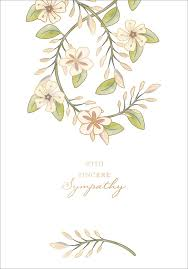 Details About Notes Queries Embossed Flowers On Swirling Green Vines Sympathy Card