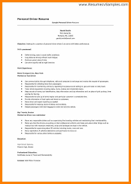 sample resume format for driver exle_for_personal_driver_resumejpg