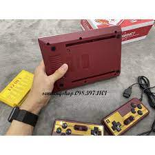 Máy game 4 nút FC Compact 500 game chính hãng tặng 1 băng game -máy điện tử  4 nút cho gia đình - Khác