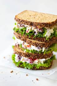 greek yogurt en salad sandwich from the plump gs to the sweet cranberries this