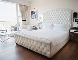 images hollywood regency pinterest furniture: hollywood regency style bedroom with tall white curved bed frame