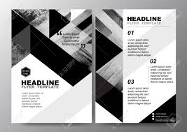 Black And White Flyer Template Abstract Black White Triangle Background For Minimal Poster Brochure 7
