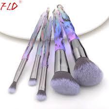 fld 10 pcs 8 pcs professional makeup brush set tools powder foundation eyeshadow lip eyeliner blush marble face makeup brushes