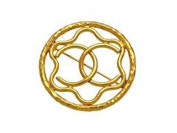 chanel pin. vintage chanel pin brooch cc logo star round h