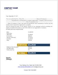 Employee Salary Certificate Templates For Ms Word Word