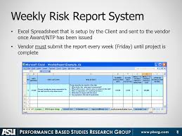 project weekly report format weekly risk report performance metrics ppt download