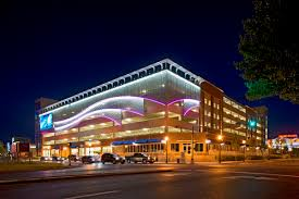 building facade lighting. Parking Structures Are Typically Associated With An Adjacent Or Mixed-use Building That Offers Its Own Architectural Aesthetic. Design Of The Interior And Facade Lighting R