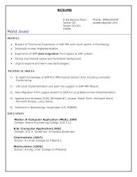 Sap Pp Module Resume
