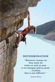 Quotes About Climbing Enchanting Determination Woman Rockclimbing Wall Poster Quotations Art