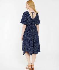Flutter Sleeve Wrap Dress Wb