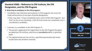Cfa Designation Description Standard Vii B Reference To Cfa Institute Cfa Level 1