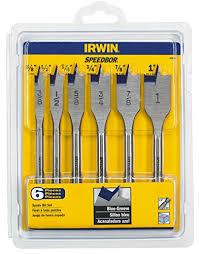 2 inch spade bit. irwin tools 1792761 speedbor blue-groove pro spade bit set with storage case 2 inch -