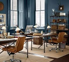 pottery barn home office. Lately, I\u0027m Especially Drawn To Walls, Trim And Ceilings All Painted The Same Color How It Makes Such A Dramatic Statement. Here, Navy Blue Pottery Barn Home Office U