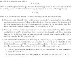 recall fouriers law for heat transfer where u is the temperature and q is the flux