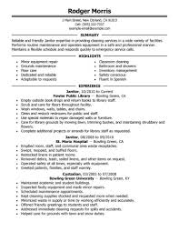 Custodian Resume Sample Free Resume Example And Writing Download