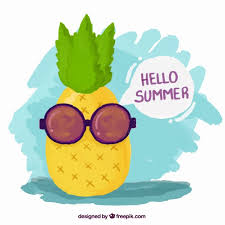 pineapple with sunglasses clipart. hand painted cool pineapple with sunglasses free vector clipart p