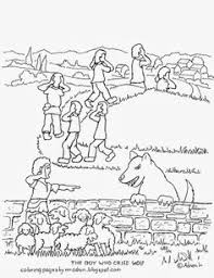 Small Picture The Boy Who Cried Wolf Online Coloring Page counseling tools