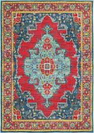 moretti refute area rugs 1331s traditional oriental blue medallion diamond petals scrolls rug com
