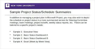 Sample Project Status Report Template Weekly – Bonniemacleod