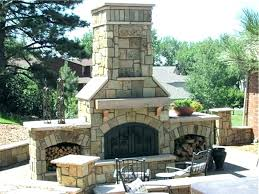 backyard fireplace plans unfinished outdoor paver