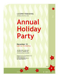 Office Holiday Party Invitation Template - Chamunesco.com