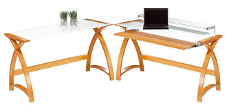 helsinki curved oak and white glass laptop desk alternative image