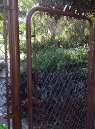 i just spray painted my chain link fence and gate looks so much better
