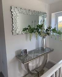 domino modern all glass contemporary wall mirror faulty stock