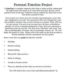 Personal Timeline Project Ideas Stormcraft Co