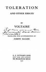 voltaire essay toleration and other essays online library of  toleration and other essays online library of liberty tp