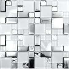 glass tiles for backsplash silver metal and glass tile ideas bathroom brushed stainless steel sheet plated