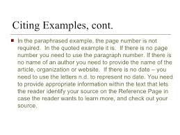 Mla Format Essay Citation The Research Paper And Citation
