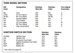 turn signals gm column ecj5