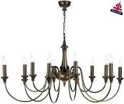 david hunt bailey large traditional 12 light bronze chandelier