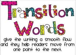 Transition Words The Title One Corner